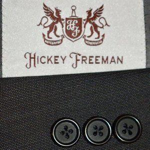 38S Hickey Freeman Pindot Chacoal Gray Sport Coat